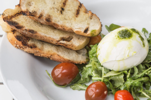 Burrata and  Heirloom Tomato Salad - delivery menu