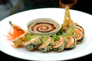 Spicy Tuna Sausage Roll (Tempura) - delivery menu