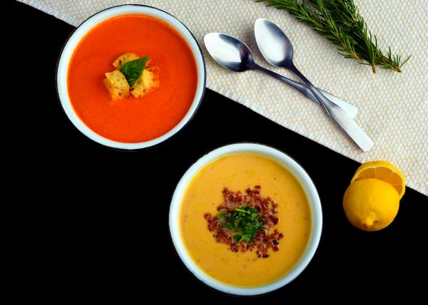 Sopa de Tomate y Crema de Elote