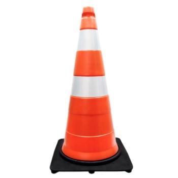 Cone de Sinalização de Trânsito com 75 cm de altura e 2,3 kg