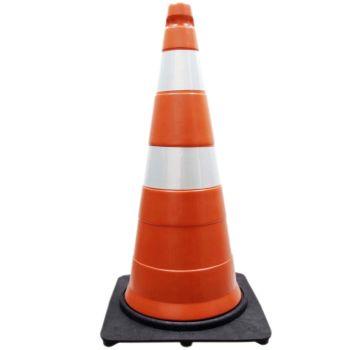 Cone de Sinalização de Trânsito Base Leve - 75 cm - 2,3 kg