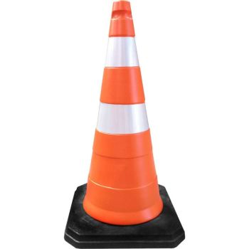 Cone de Sinalização de Trânsito com 75 cm de altura e 4,8 Kg