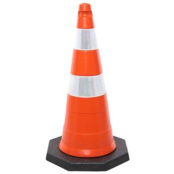 Cone de Sinalização de Trânsito com 75 cm de altura e 2,8 kg
