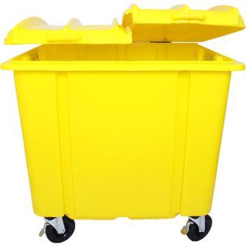Container de Lixo 1100 Litros Tampa Bipartida