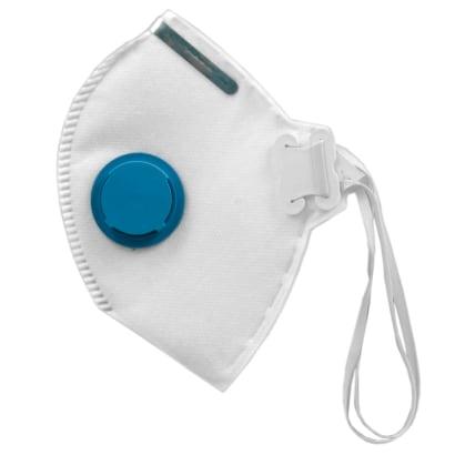 Máscara descartável - Respirador Semifacial PFF2 - Branco Com Válvula