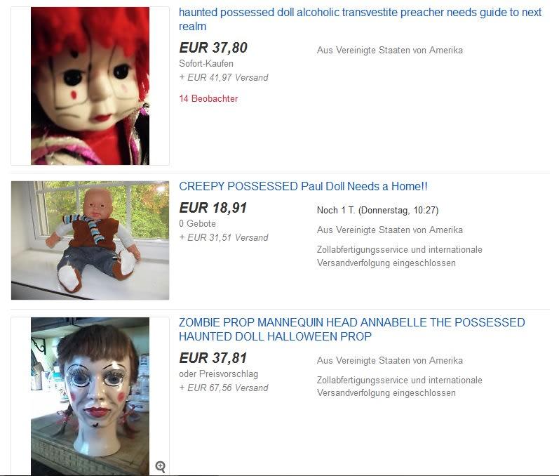 Besessene Puppen bei eBay kaufen