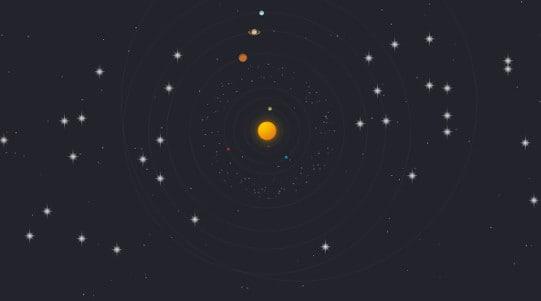 Ciel de nuit virtuel