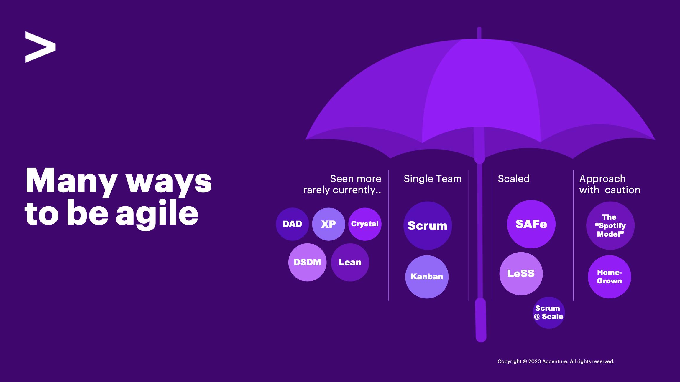 Agile mindset umbrella