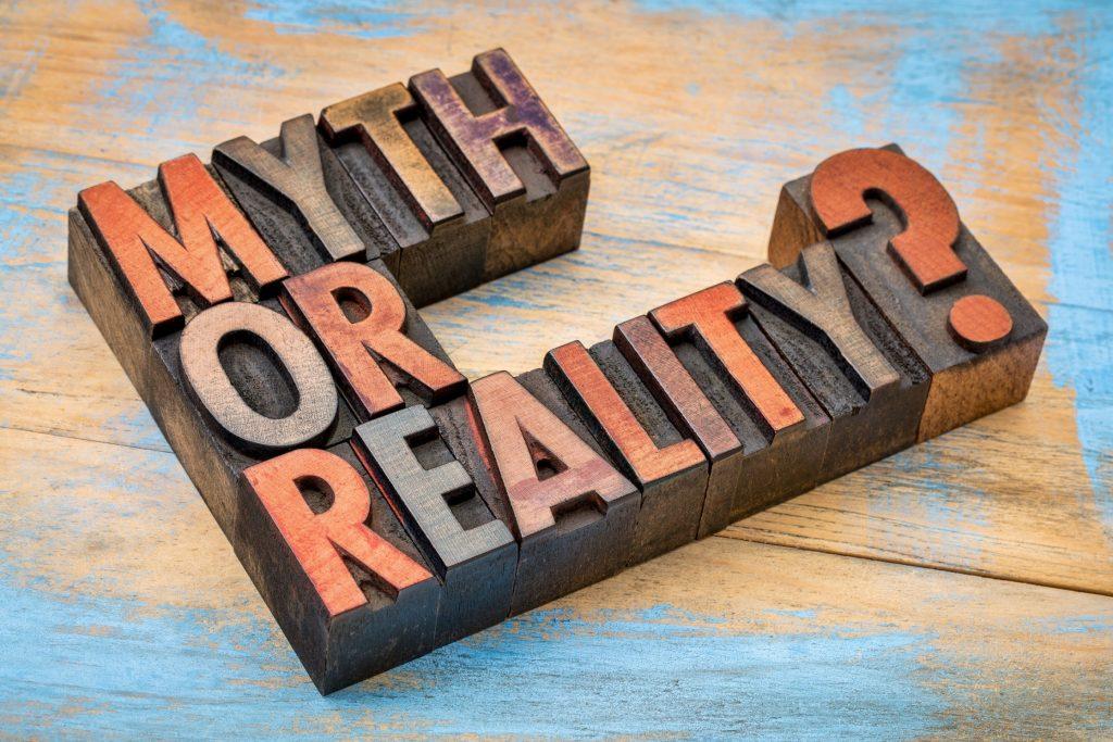 Letter blocks spell 'Myth or Reality'?