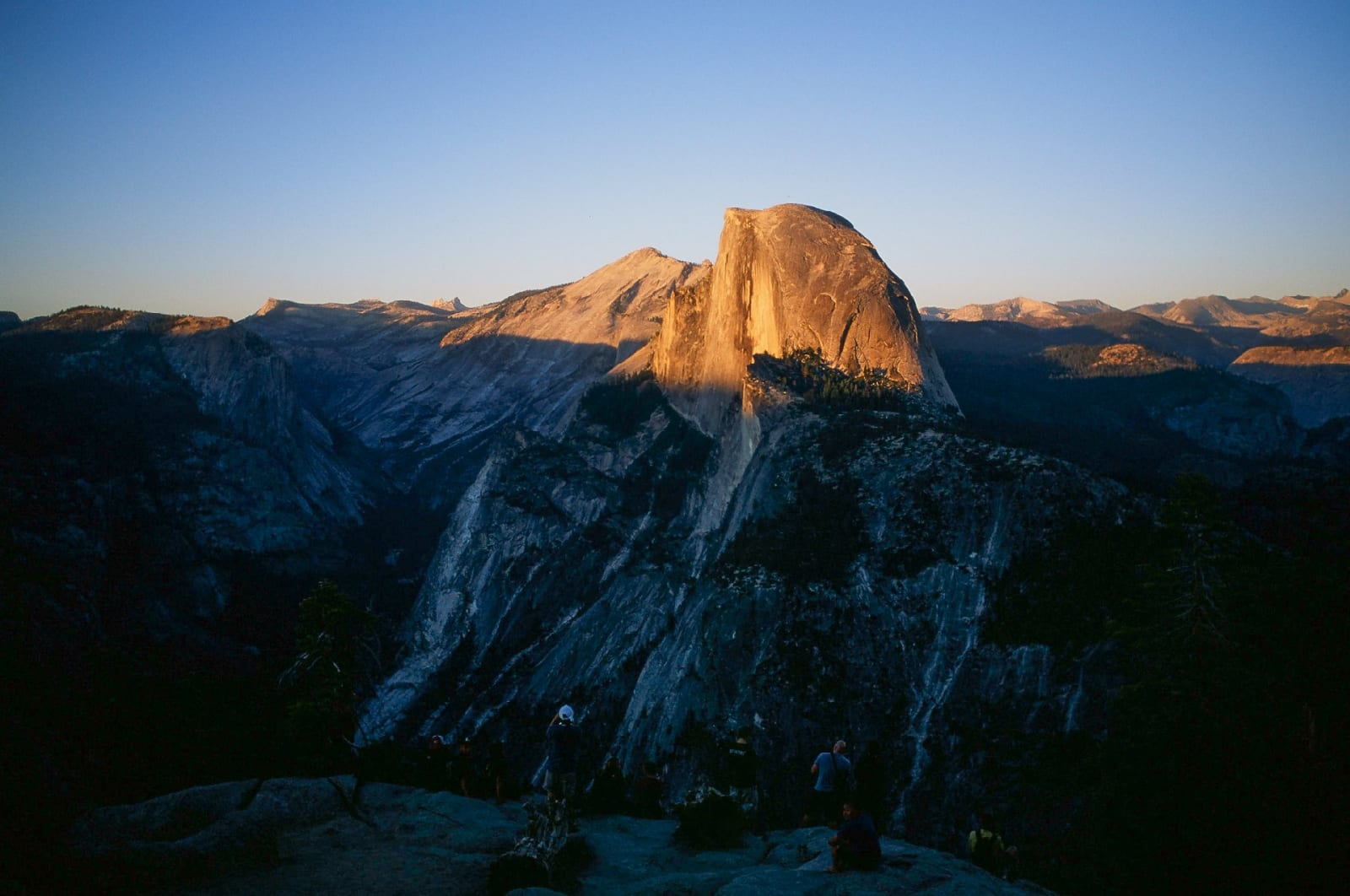 The time of sunset and dusk is magical. Summer, 2014. Yosemite National Park, CA.