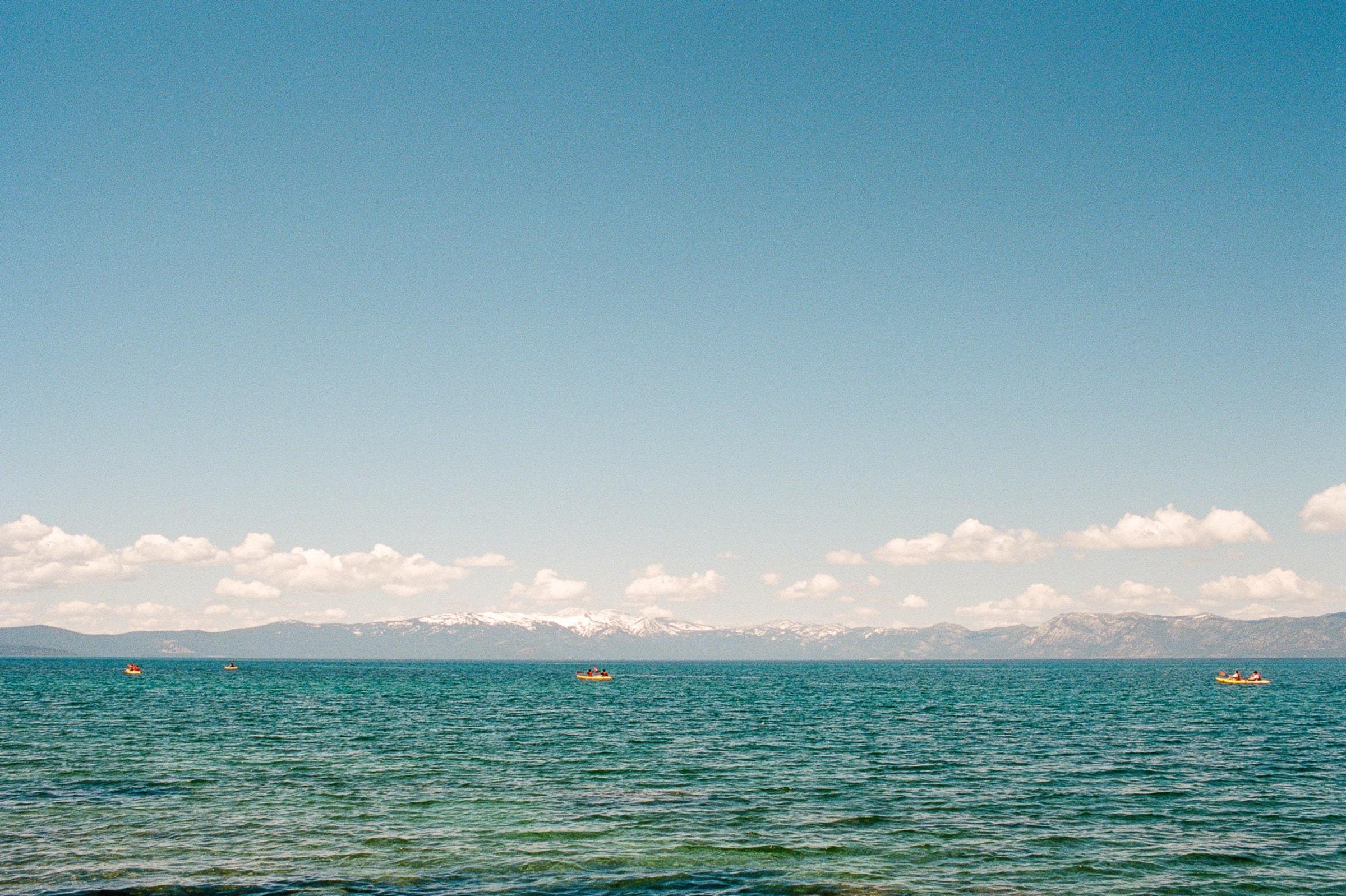 Kayaking on the Lake Tahoe