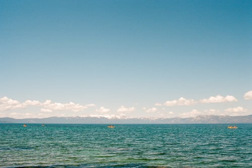 Kayaking on the Lake Tahoe