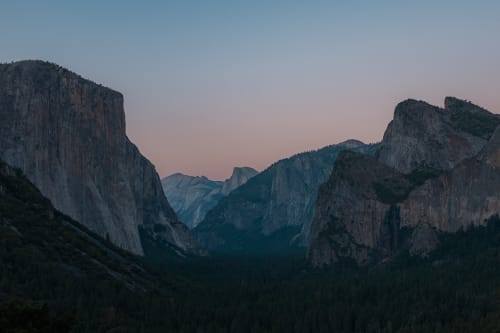 Tunnel view at dawn