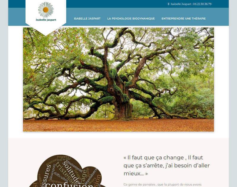 Miniature de la page d'accueil du site d'Isabelle Jaspart, thérapie psycho-corporelle biodynamique - Narbonne