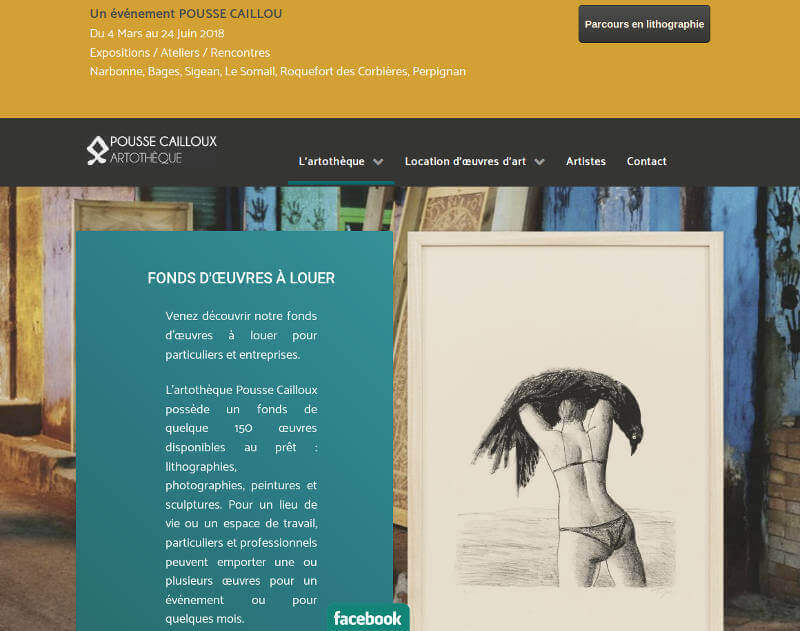 Miniature de la page d'accueil du site Pousse-Cailloux