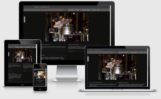 Page web adaptée au format mobile - Exemple de webdesign responsive