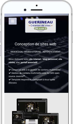 Webdesign responsive - Site internet Joomla! de Guerineau-webdesign.com, création de sites Joomla!
