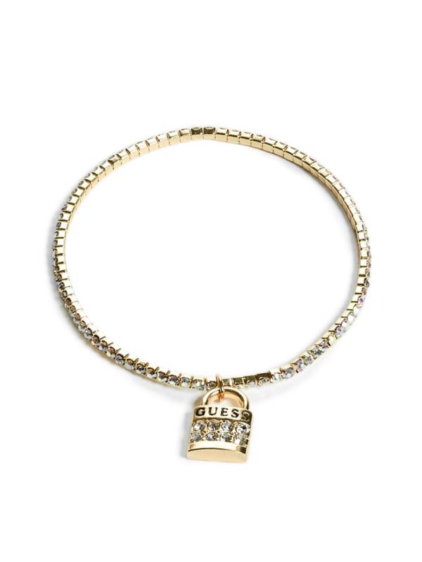 Gold-Tone Lock Charm Bracelet