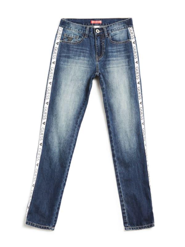 Kaiden Logo Stripe Jeans (7-18)