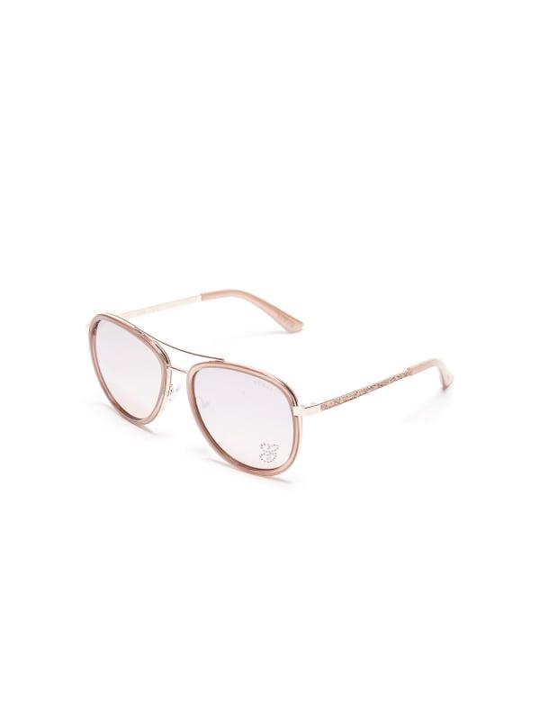 Rhinestone G Aviator Sunglasses
