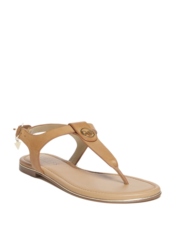 Carmel T-Strap Logo Sandals