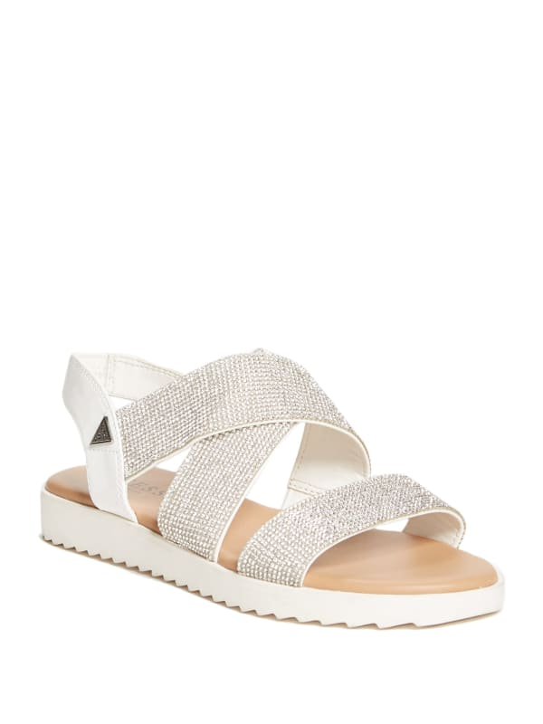 Karsyn Rhinestone Flat Sandals