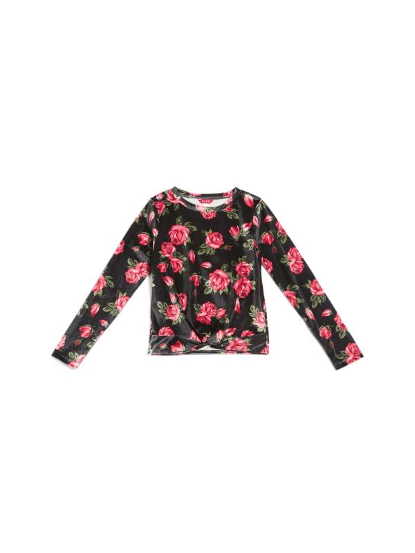 Quinn Velour Floral Top (7-16)