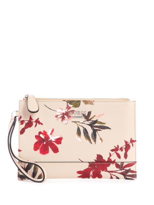 Clarke Floral Wristlet