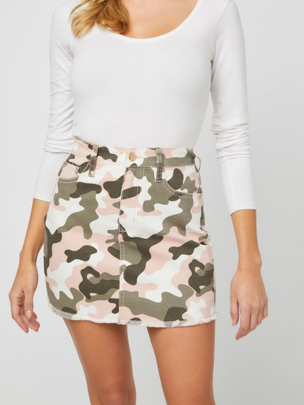Shaw Camo Mini Skirt