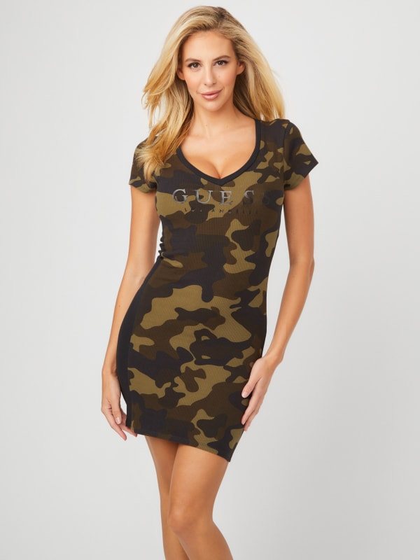 Bevy Camo T-Shirt Dress