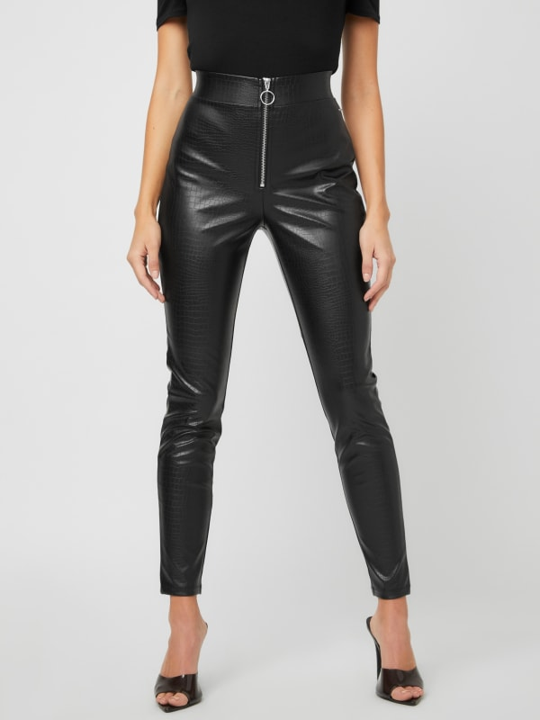 Carlise Faux-Leather Pants