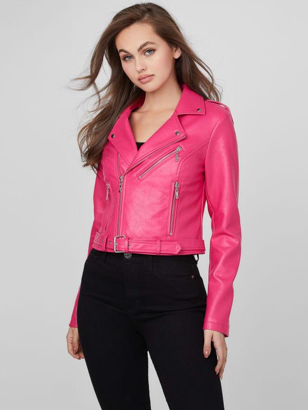 Nalie Faux-Leather Moto Jacket