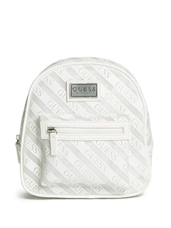 Striped Logo Jelly Backpack