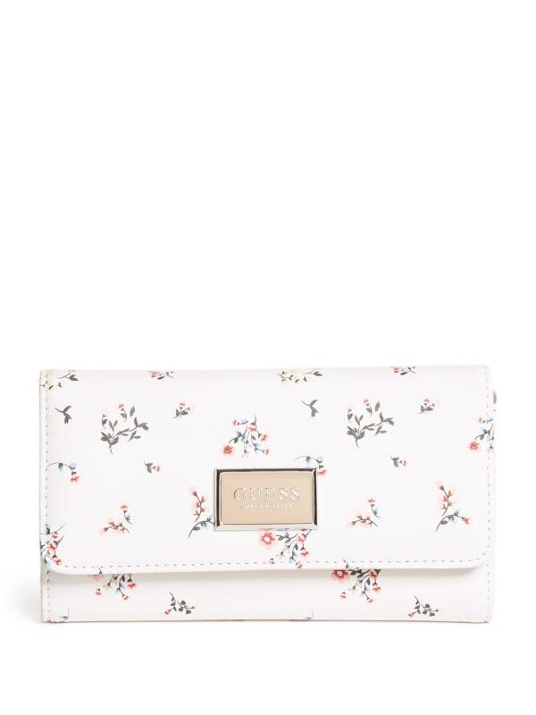 Abree Logo Saffiano Slim Wallet