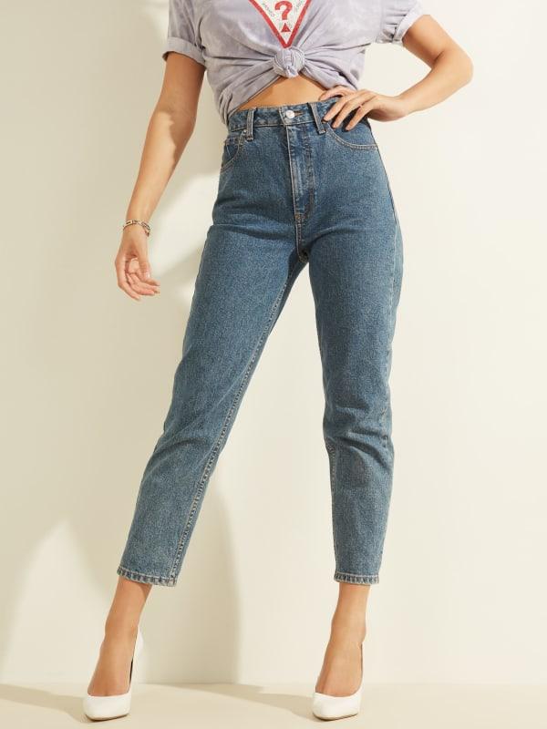 Super-High Rise Mom Jeans