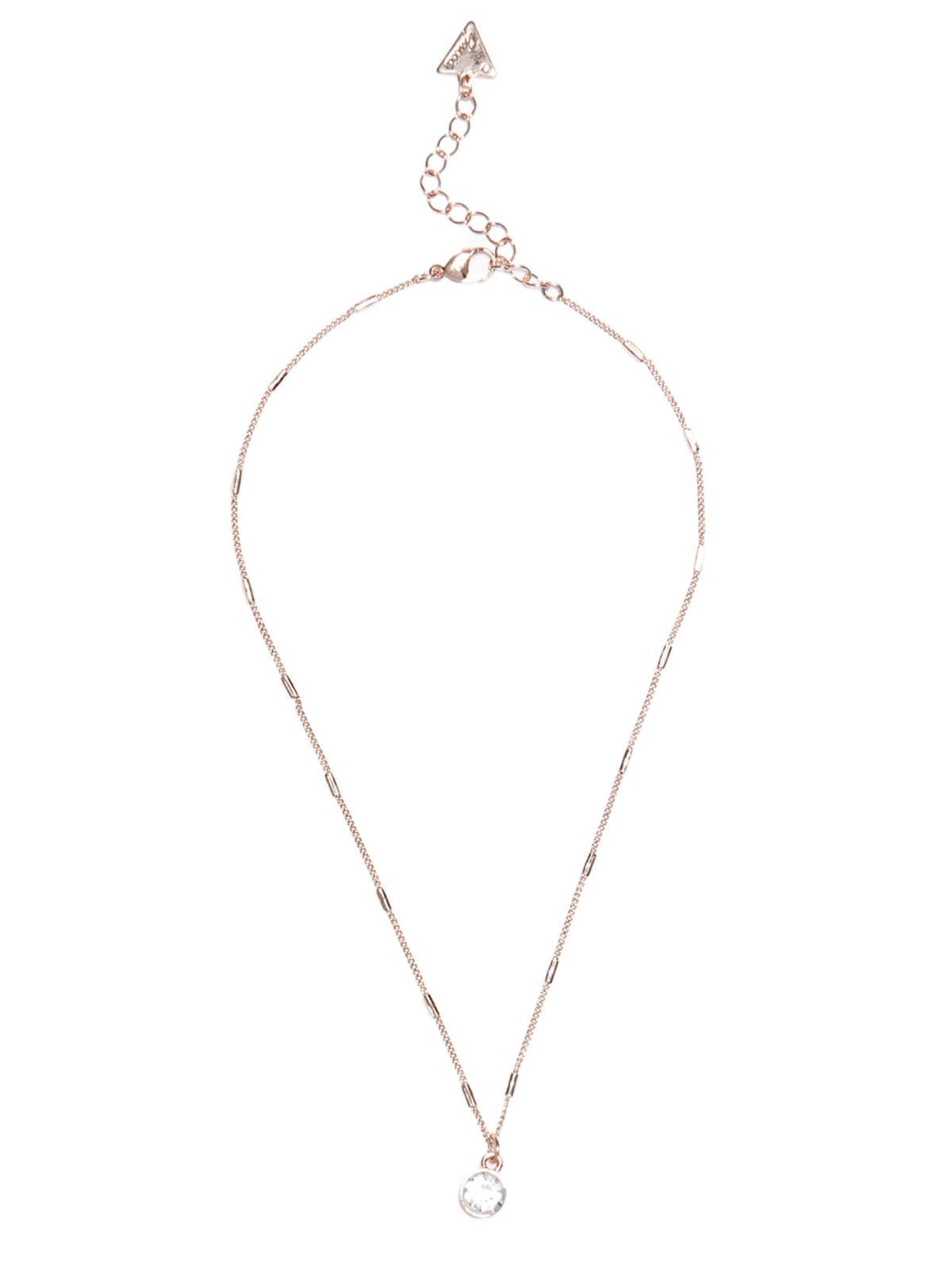 Rose Gold Tone Rhinestone Necklace Guess Factory