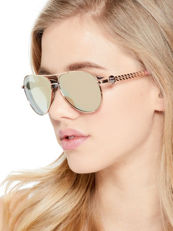 Logo Aviator Sunglasses |