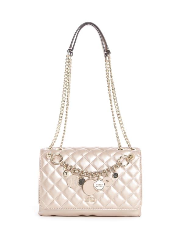 GUESS Factory Womens Victorya Multi-Compartment Satchel