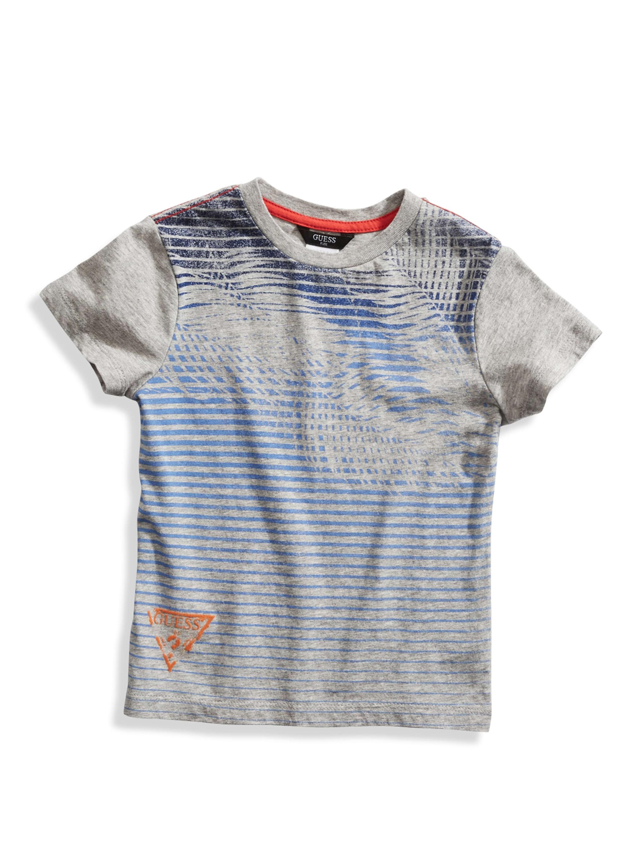 Guess Little Boys 2T 7 Short Sleeve Striped Tee