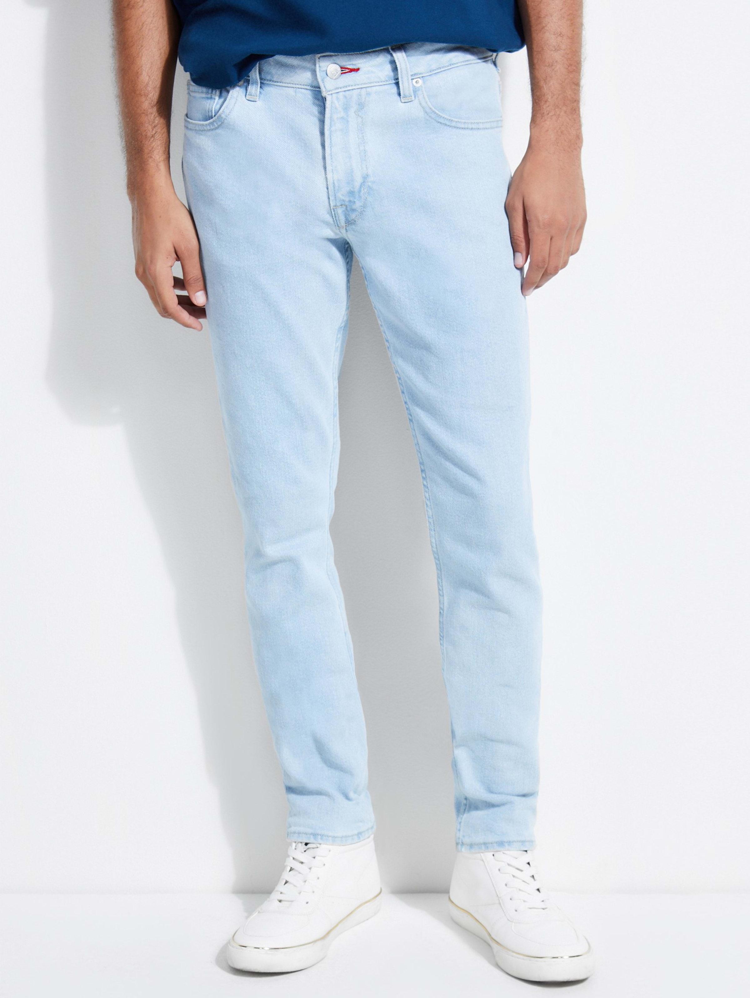 Guess Jeans Slim Straight Men/'s Size 32 X 34 Classic Blue Jeans Light Wash