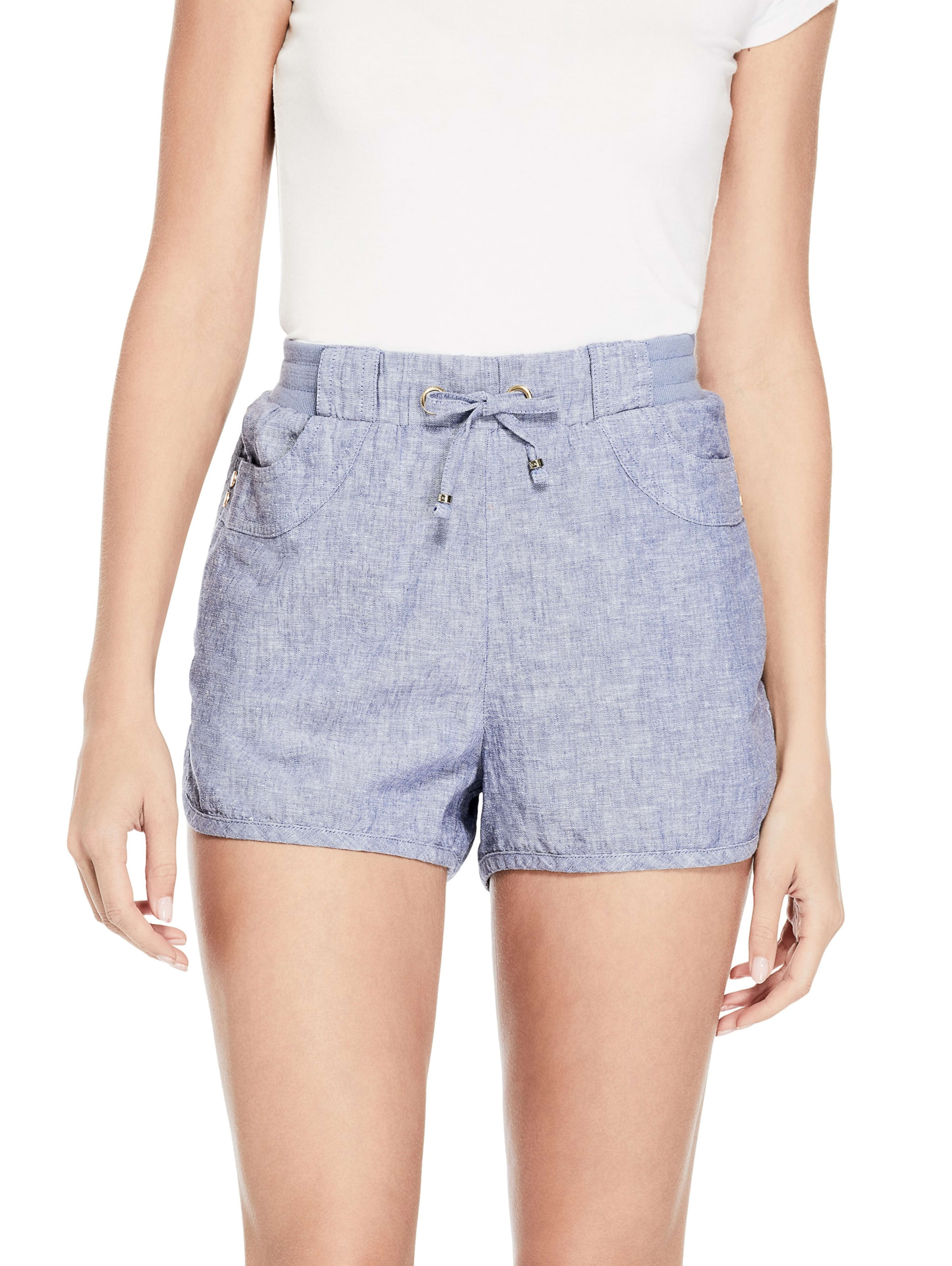 GUESS Factory Women/'s Leena Linen Shorts