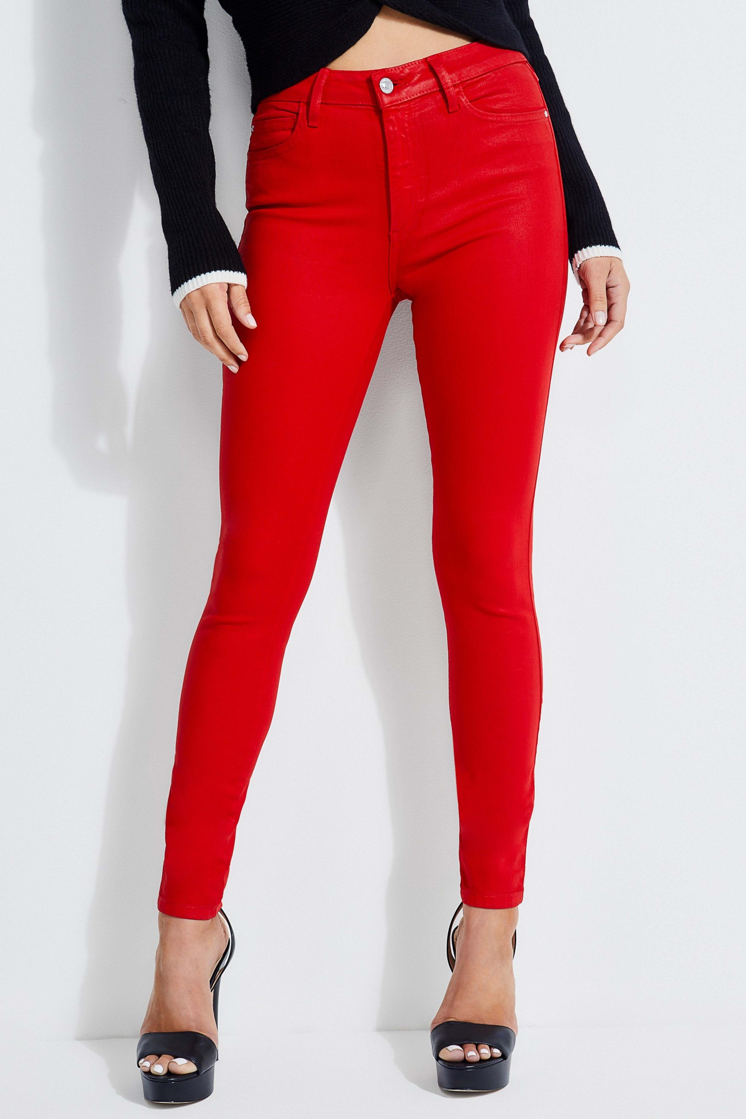 1981 High Rise Coated Skinny Jeans
