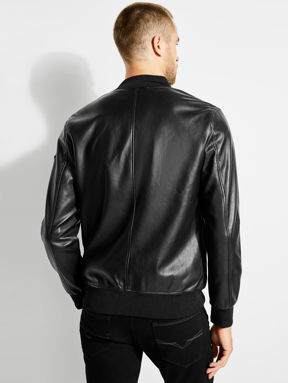 Guess Eco Leather Bomber XXL