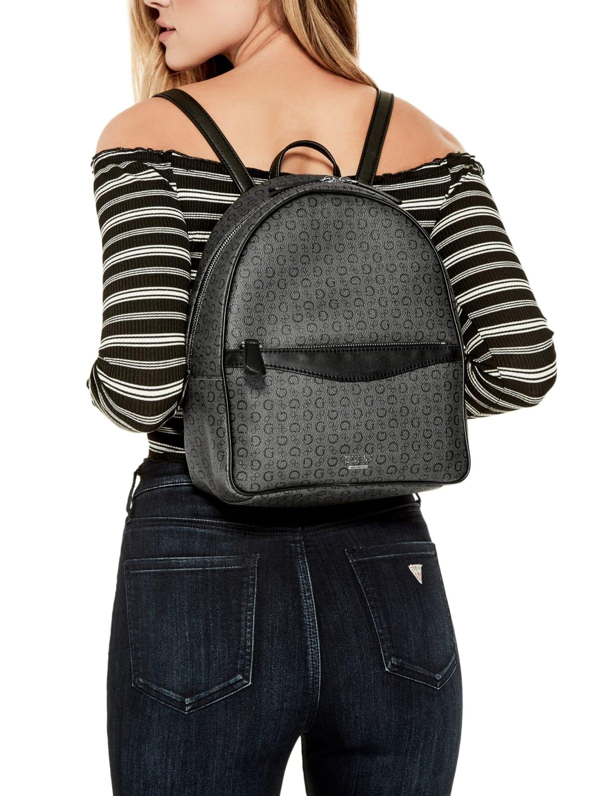 Details about GUESS Factory Women's Diem Logo Print Fashion Travel Shoulder Large Backpack
