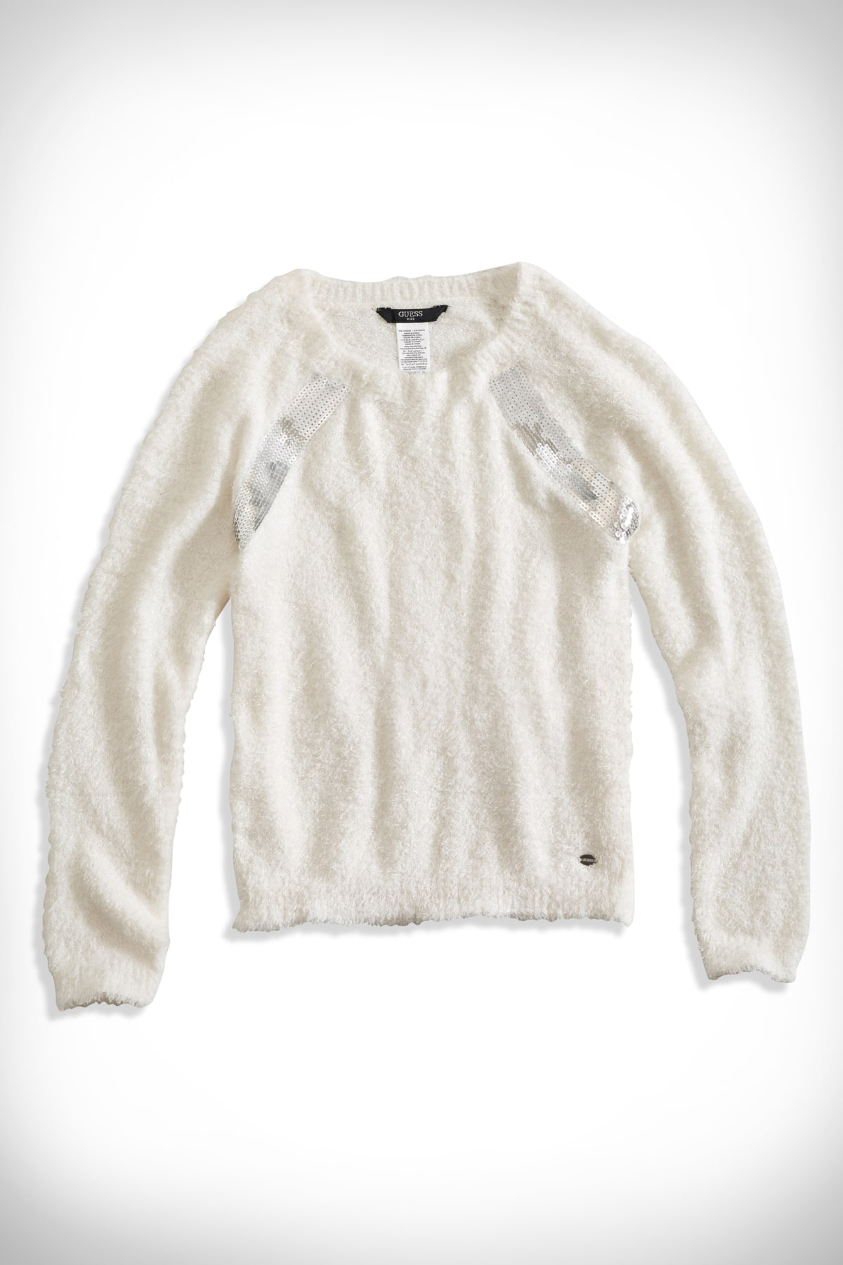 Big Girl Faux Fur Sequined Sweater (7 16x) |