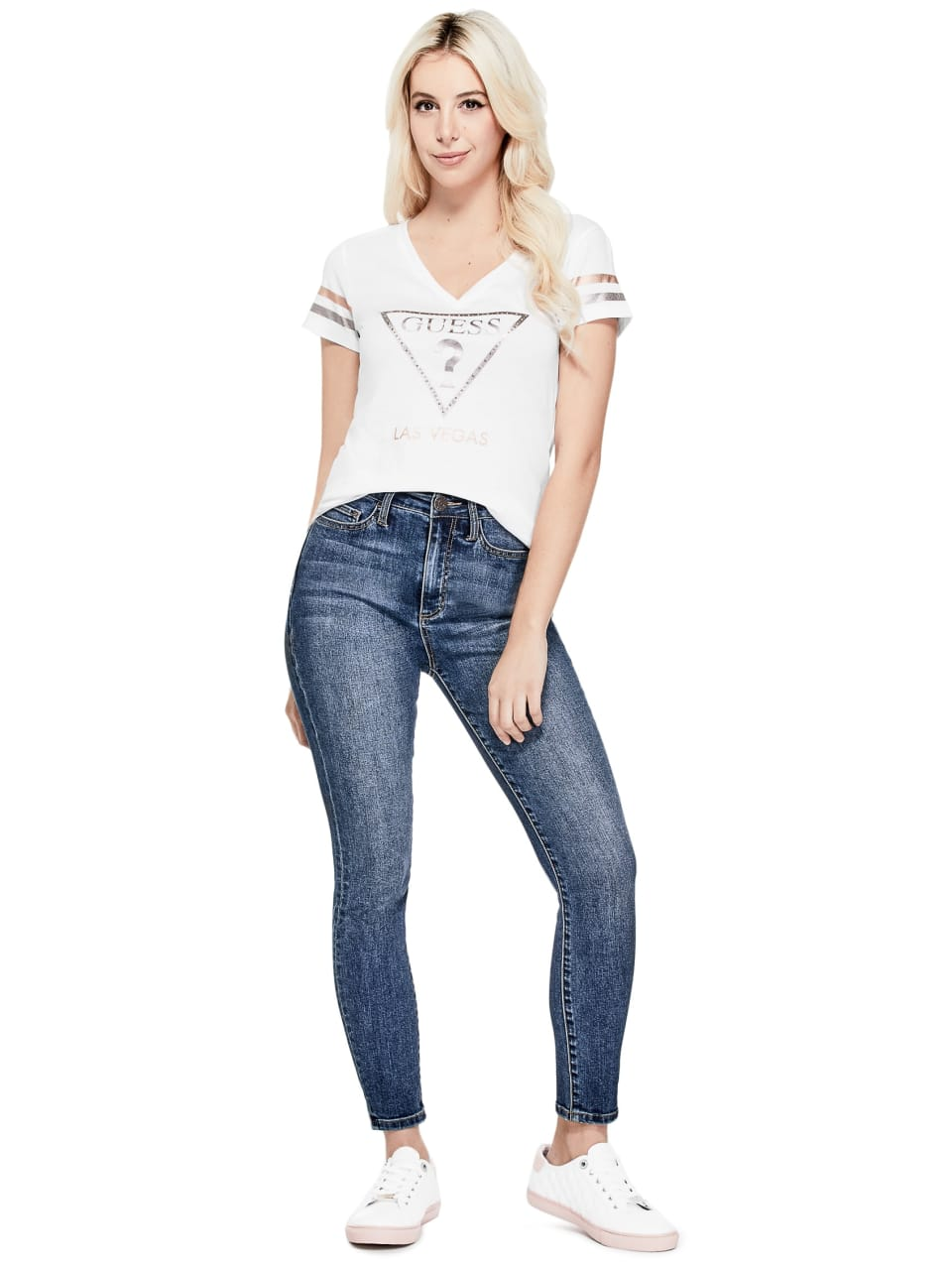 GUESS-Factory-Women-039-s-Las-Vegas-City-Tee thumbnail 10