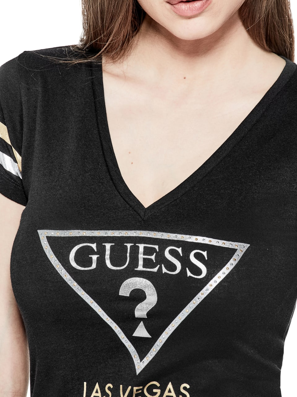 GUESS-Factory-Women-039-s-Las-Vegas-City-Tee thumbnail 8