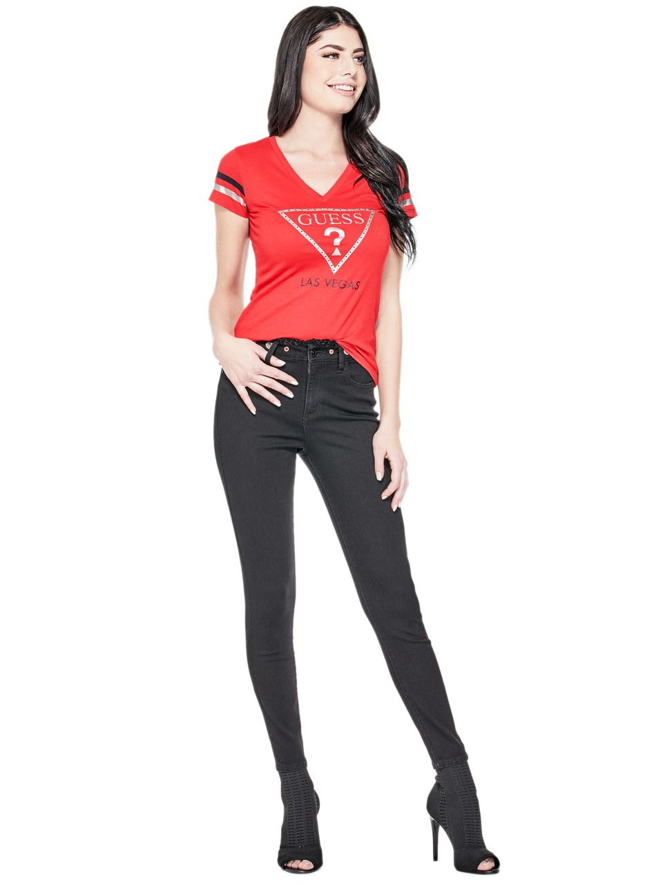 GUESS-Factory-Women-039-s-Las-Vegas-City-Tee thumbnail 14