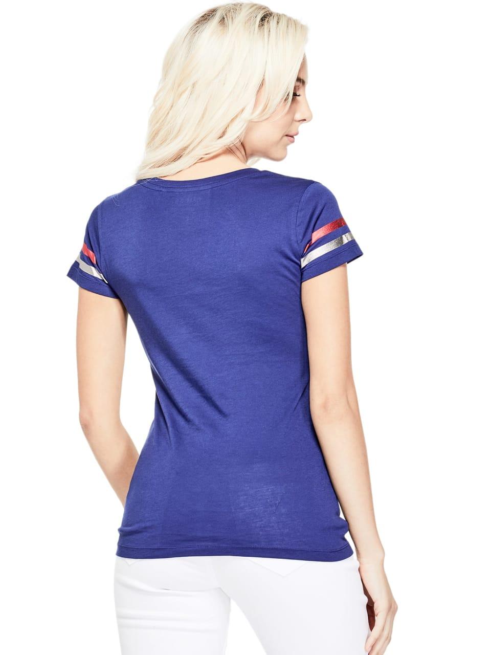 GUESS-Factory-Women-039-s-Texas-City-V-Neck-Varsity-Short-Sleeve-Tee thumbnail 12