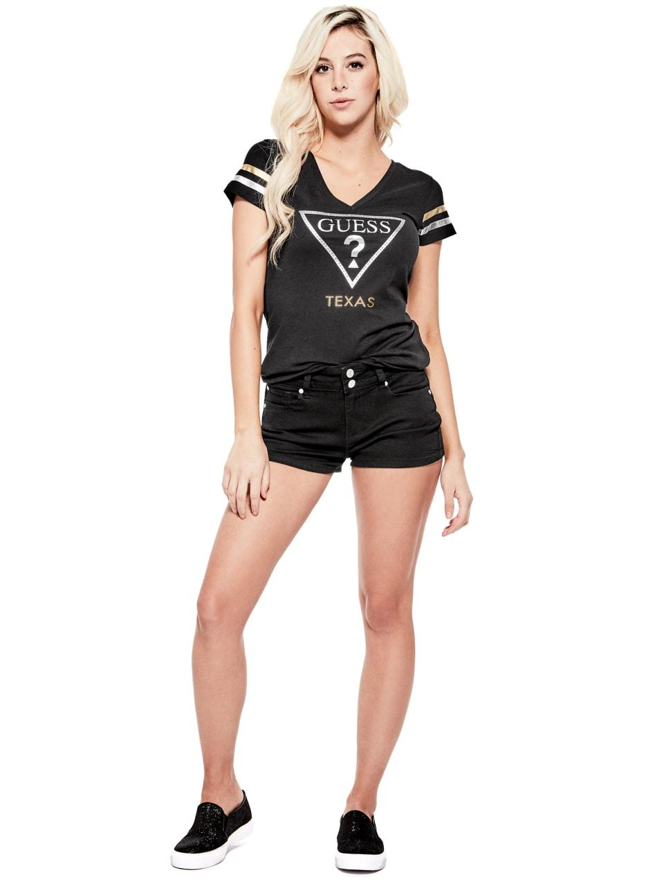 GUESS-Factory-Women-039-s-Texas-City-V-Neck-Varsity-Short-Sleeve-Tee thumbnail 8